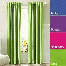 nice lime green and cream curtains decorating