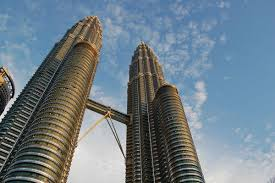work area twin prime:  px petronas towers by day