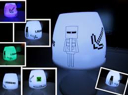 Minecraft Lamp Made With My Silhouette Cameo For A Minecraft Fan
