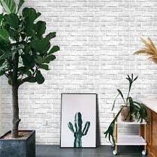 White Brick 3D Wall Panels Peel and ...