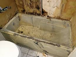 bathtub before repair refinishing and reglazing