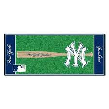 baseball runner rug ny giants area n