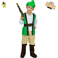 2018 kids robin hood costume role play party cosplay superhero hot robin clothing for