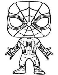 Kleurplaat Funko Pop Marvel Spider Man 5