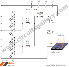 simple solar table lamp circuit for your home circuits gallery solar light circuit diagram