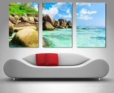 this is a beautiful 3 panel triptych split canvas wall art print of a tropical paradise on 3 panel wall art canvas with swimming pool underwater triptych pinterest panel wall art