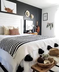 black white tan bedroom home decor