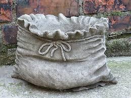 sack pot hand cast stone garden