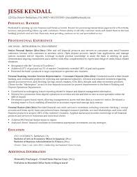personal banker resume sample resume for your job application intended for personal  banker resume 15862 -