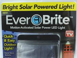 ever brite outdoor motion activated solar power led light as seen on tv