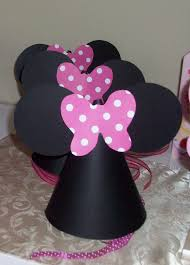 diy tutorial from a catch my party member how to make minnie mouse party hats