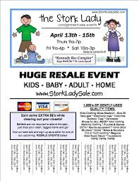 sp the word the stork lady consignment events use the portrait or landscape and fit to size settings to ensure flyers will fit on your paper