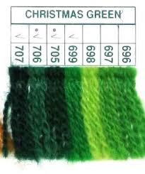 696 699 705 707 Christmas Green Paternayan Knots