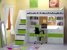 bunk bed with stairs for girls. Amazing Teen Girl Loft Beds | Childrens Bunk With Desk: Incredible Bed Stairs For Girls G
