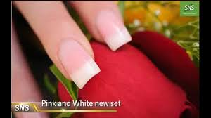sns nail signature nail systems how to do pink white dipping powder dip it instruction 1