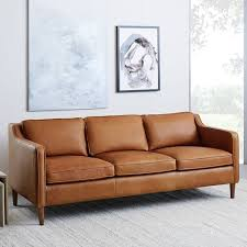 Top Modern Furniture Brands Custom Hamilton Leather Sofa 48 West Elm
