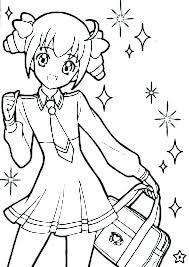 Cute Anime Coloring Pages Anime Coloring Pages Cute Cute Girl