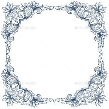 Victorian frame border Old School Graphicriver Ornament Vector Borders From Graphicriver
