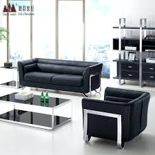 office sofa set. Office Leather Couch Business Sofa Minimalist Reception Table Combination Set New E