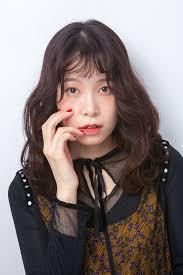 パーマ セミロング エレガント 韓国風ヘアーtanpopo Hair In 韓国 韓国