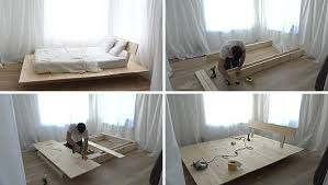 make this diy modern wood platform bed