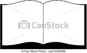 open book eps vectors simple drawing