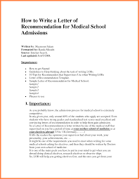 Ideas Of Writing A Med School Recommendation Letter With Resume