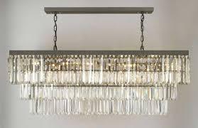 g902 1156 12 gallery closeout retro palladium glass fringe rectangular chandelier chandeliers lighting