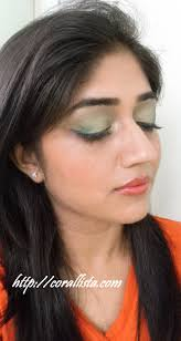 colorful green gold and purple eye makeup look