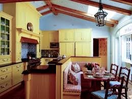yellow kitchen color ideas. Country Yellow Kitchen Paint Color Cabinet With Comfy Dining Area Ideas ,