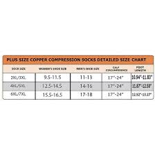 Plus Size Toe Less Copper Compression Zipper Stocking Socks Black