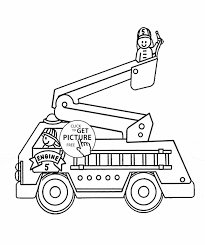 Small Picture Coloring To Print Fire Truck Page Free Printable Fireman