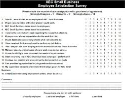 Job Satisfaction Survey Template Simple Satisfaction Survey Examples Kubreeuforicco