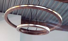 led pendant lighting. Designed For His Living Room, The DIY Pendant Light Is Made From Plywood, LED Strips, And A Flexible Channel. Led Lighting