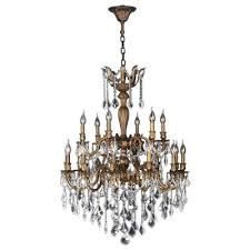 crystal bronze chandeliers hanging lights the home depot antique pertaining to popular household bronze chandelier with crystals plan