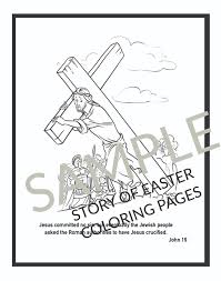 Easter Story Colouring Pages To Print With Christian Coloring