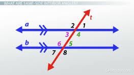 same side interior angles definition theorem