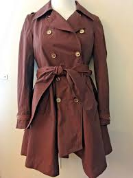 walter fit and flare women s trench coat size 6 s metallic bronze