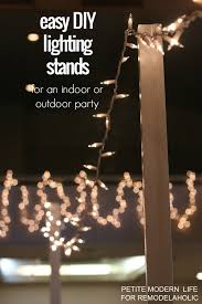 build these easy diy lighting stands to hold strands of string lights and add ambiance to