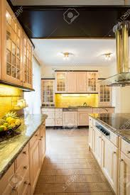 Old Fashioned Kitchen Spacious Old Fashioned Kitchen In A Big Luxury House Stock Photo