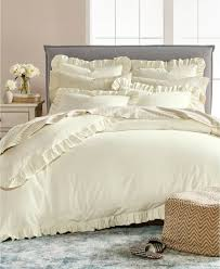 details about martha stewart king duvet cover portuguese luxury ruffle flannel e92127