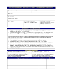 Sample Employee Performance Appraisal Sample Employee Review Form 7 Examples In Pdf Word