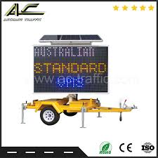 Battery Powered Trailer Lights Hot Item Portable Intelligent Roadway Battery Operated Solar Warning Light Sign