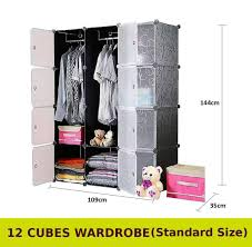 cabinet 12 cubes black stripes diy wardrobe black stripes foc 2 hangers
