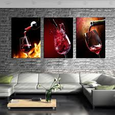 36 bar wall art 3 piece modern kitchen canvas paintings red wine cup swinkimorskie org
