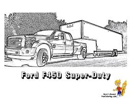 Truck And Trailer Coloring Pages Truck And Rv Camper Trailer