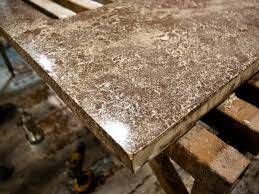 hand pressed concrete countertops