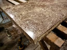 hand pressed concrete countertops