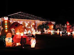 christmas outside lighting. busy christmas village outside lighting t