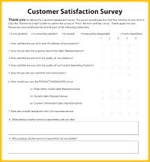 Customer Satisfaction Survey Template Excel Service Questionnaire Template